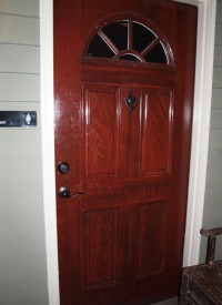 Faux wooden painted doors